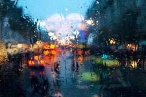 water drops, Window, Rain, Bokeh