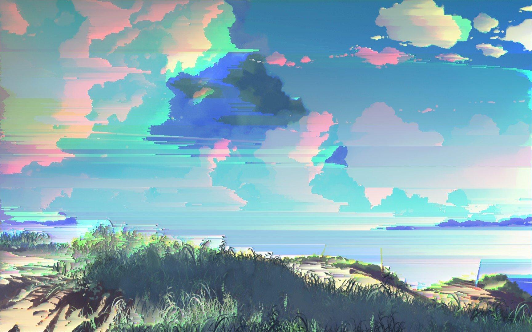 glitch art, Pixel sorting, Clouds HD Wallpapers / Desktop ...