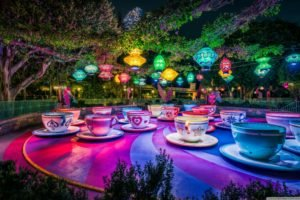 Disneyland, Theme parks, Trees, Lantern, Cup, California, Colorful