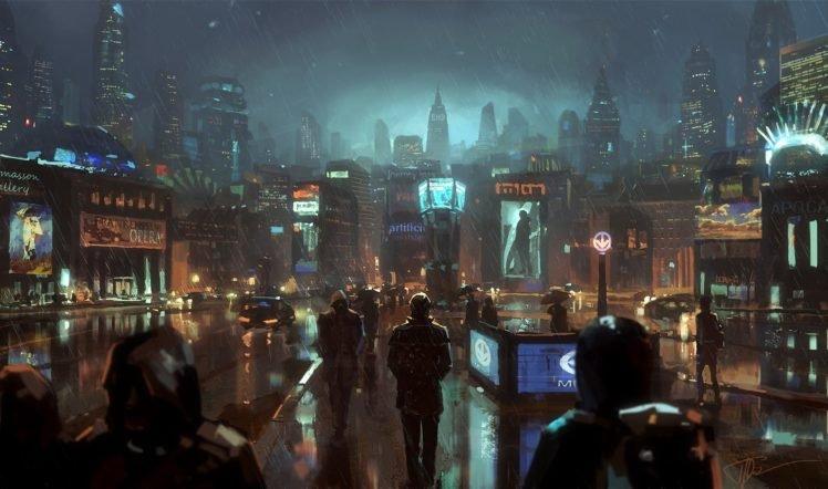 city, Rain HD Wallpaper Desktop Background