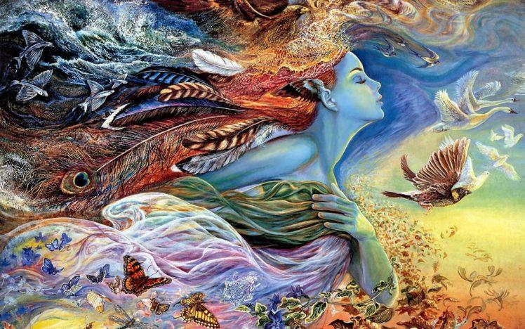 women, Birds, Butterfly, Geese, Dove HD Wallpaper Desktop Background