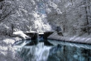 river, Winter, Infrared