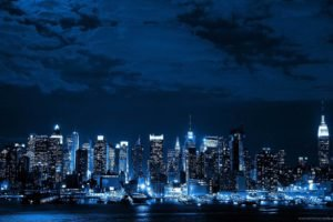skyline, Night
