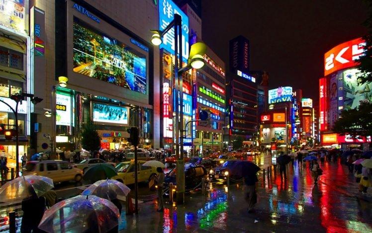 City Rain Night Hong Kong Hd Wallpapers Desktop And Mobile