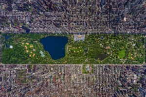 aerial view, New York City, Cityscape, USA, Central Park, City, Green