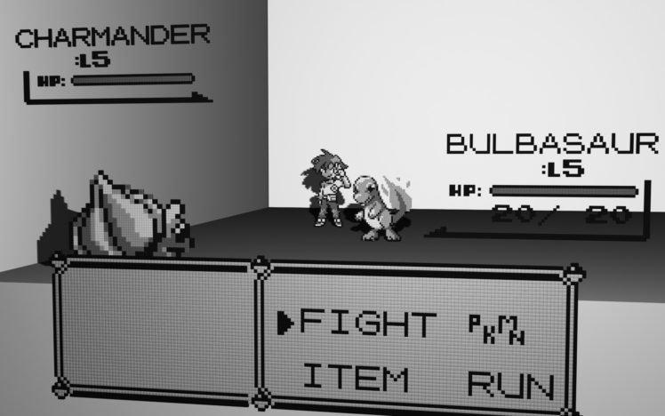 Bulbasaur, Charmander, Battle, Pixel art, Pokémon, Video games HD Wallpaper Desktop Background