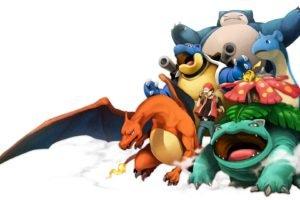 Charizard, Blastoise, Venusaur, Pokémon, Snorlax, Ash Ketchum, Pikachu