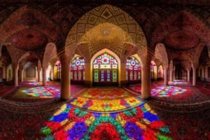 stained glass, Reflection, Iran, Mosque
