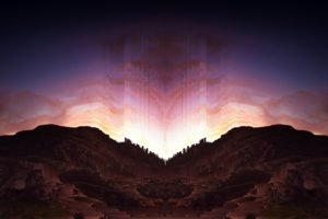 pixel sorting, Glitch art, Symmetry