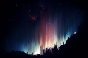 pixel sorting, Glitch art, Aurorae