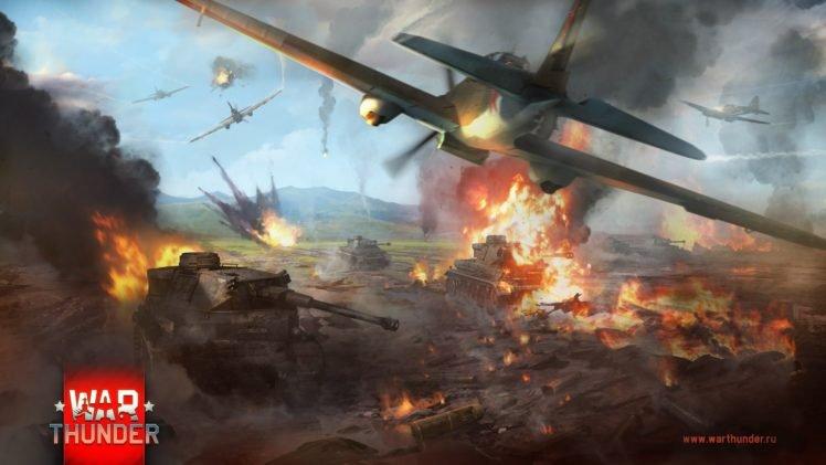 War Thunder, Tank, Airplane, Gaijin Entertainment, Video games, War, World War II HD Wallpaper Desktop Background