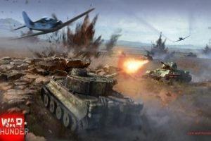 War Thunder, Tank, Airplane, Tiger I, T 34, Gaijin Entertainment, Focke Wulf Fw 190
