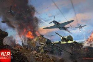 War Thunder, Tank, Airplane, T 34, Pzkpfw V Panther, Gaijin Entertainment
