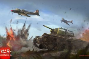 War Thunder, Airplane, Tank, KV 1, Gaijin Entertainment