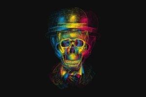 skull, Colorful, Hat