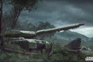 Armored Warfare, Tank, Leopard 2, Rain