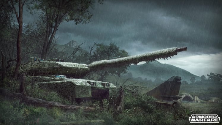 Armored Warfare Tank Leopard 2 Rain Hd Wallpapers