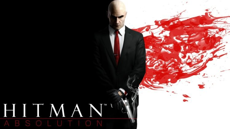Agent 47, Hitman: Absolution, Blood, Red, Red tie HD Wallpaper Desktop Background