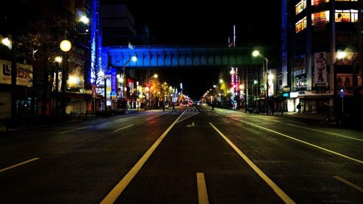 Asia Tokyo Japan Night Street City Akihabara HD Wallpaper Desktop