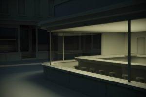 Edward Hopper, Nighthawks, Painting, CGI
