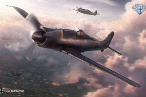 World of Warplanes, Airplane, Focke Wulf, Fw 190, Wargaming