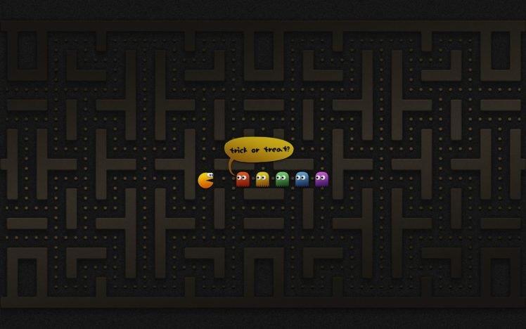 Video Games Minimalism Pacman Hd Wallpapers Desktop And