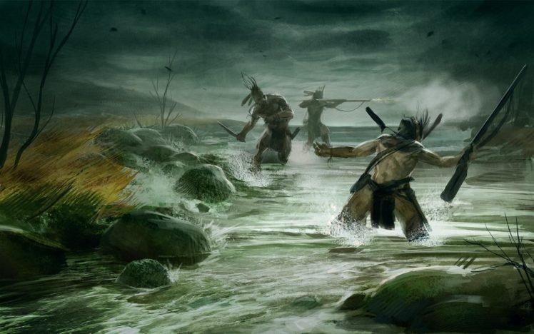 warrior, Video games, River HD Wallpaper Desktop Background