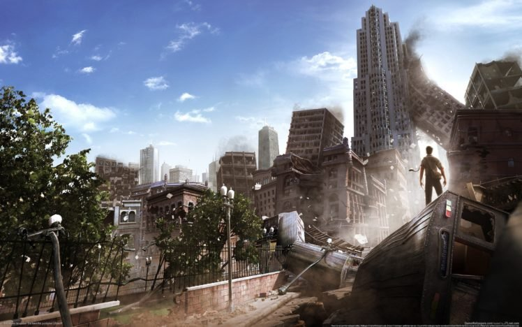 video games, Apocalyptic, Building HD Wallpaper Desktop Background