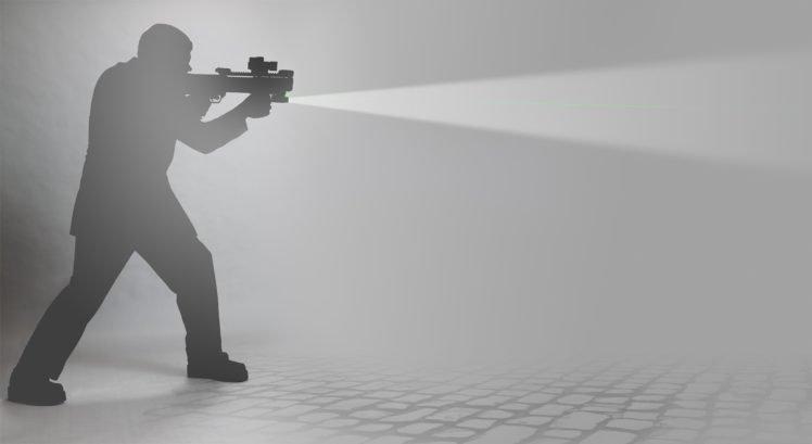 men, Monochrome, Weapon, Ksg 12 HD Wallpaper Desktop Background