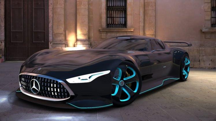 Mercedes Benz AMG Vision Gran Turismo, Gran Turismo 6, Gran Turismo, Video games HD Wallpaper Desktop Background
