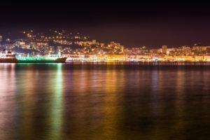 Ajaccio, Sea, Night, Lighter, Colorful