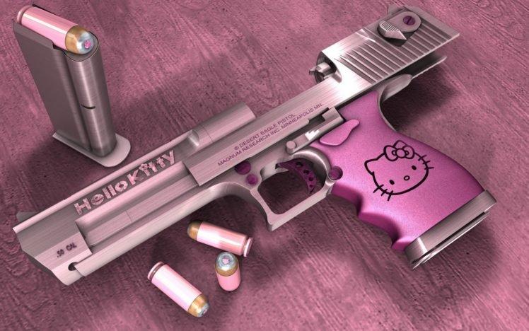 Desert Eagle Hello Kitty Gun Hd Wallpapers Desktop And Mobile