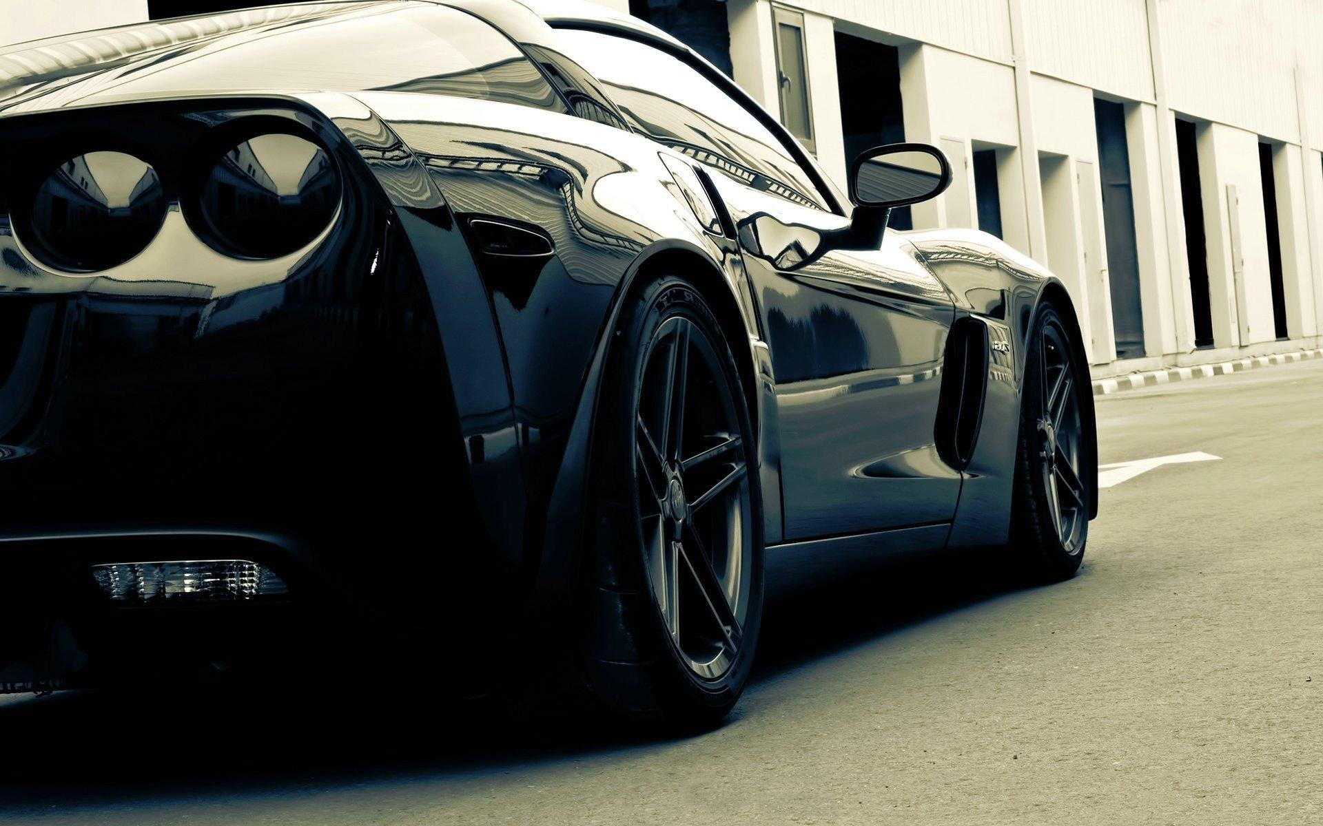 черный автомобиль corvette c6 z06 без смс