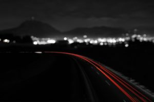 night, City, Monochrome, Long exposure, Road, Light trails