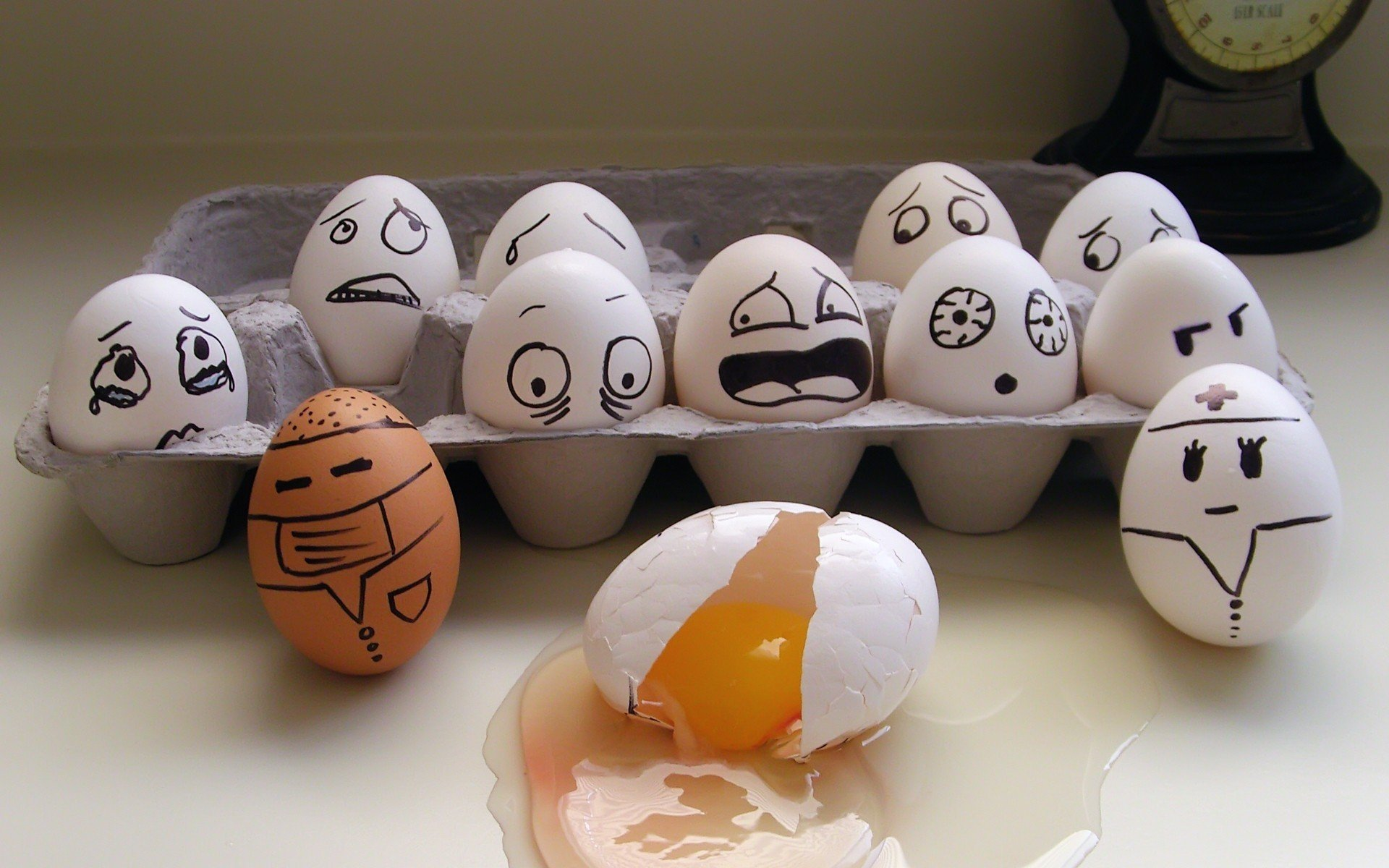 eggs, Minimalism Wallpaper