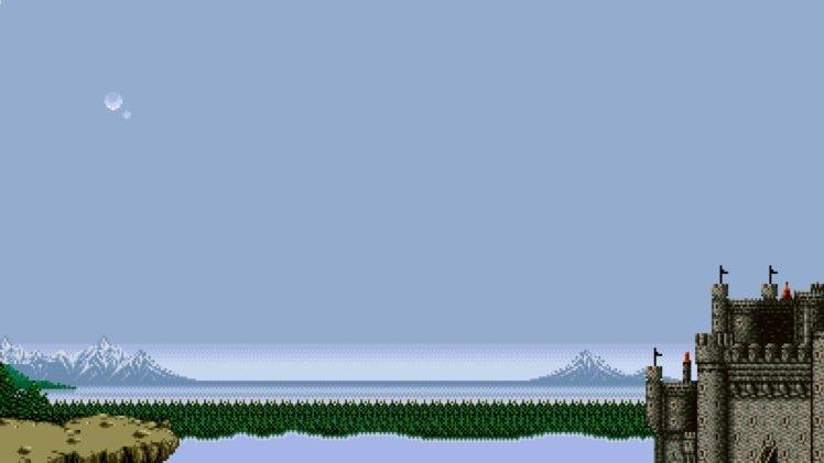 Final Fantasy, Final Fantasy IV, Pixel art, Baron, Video games, Castle HD Wallpaper Desktop Background