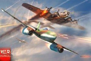 War Thunder, Gaijin Entertainment, Airplane, Boeing, B 29 super fortress, Me262, Meserschmitt