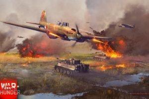 War Thunder, Gaijin Entertainment, Airplane, Tiger I, IL 2 Sturmovik