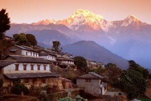 Nepal, Himalayas, Ghandruk, Mountains