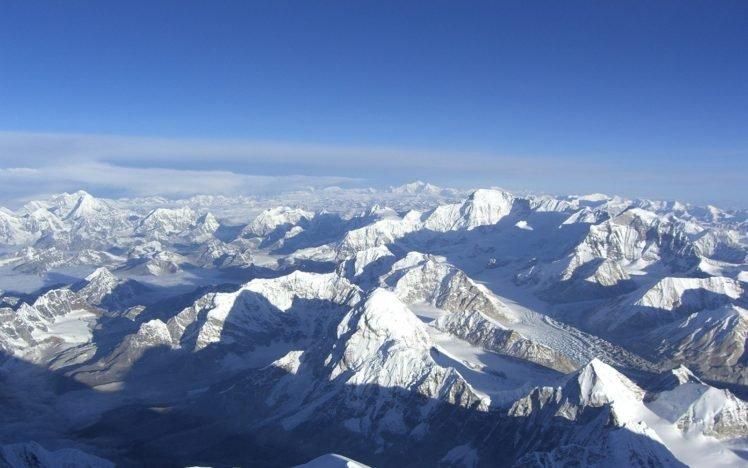 Nepal, Himalayas, Mountains HD Wallpaper Desktop Background
