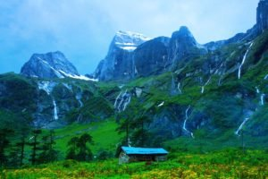 Nepal, Himalayas, Varun Valley, Cabin, Mountains