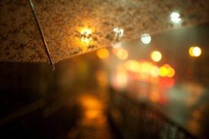 depth of field, Umbrella, Bokeh
