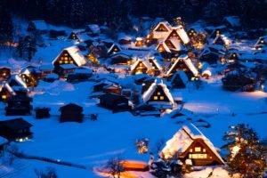 village, Winter