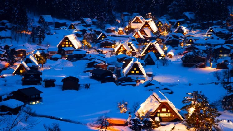 village, Winter HD Wallpaper Desktop Background