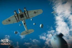 War Thunder, Airplane, Gaijin Entertainment, Video games, Luftwaffe, Bomber, World War II, Military aircraft, Aircraft