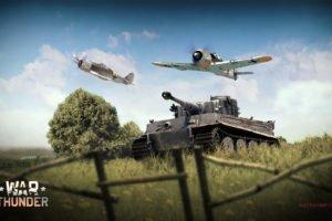 War Thunder, Airplane, Gaijin Entertainment, Tank, Tiger I, Focke Wulf Fw 190