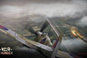 War Thunder, Airplane, Gaijin Entertainment, Spitfire