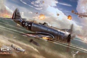 War Thunder, Airplane, Gaijin Entertainment, Republic P 47 Thunderbolt