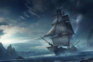 pirates, Sailing ship