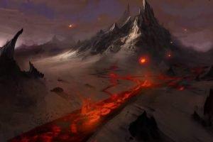 lava, Mountains
